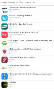 2497 - ユナイテッド(株) メルカリ  アメリカ[iPhone]トップ無料:ショッピング 6位  eBayやWalmartより上