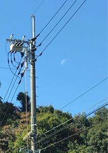 びっくり箱 この時間まだお月さまいました🎶  北斗星さん所のお天気は? 晴れましたか?
