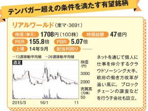 3691 - (株)リアルワールド 爆上げGO