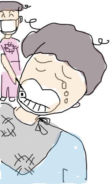 自称画伯 ameさんが歯医者行った🦷時の絵はこれだった🖼