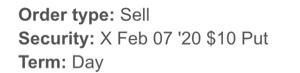 X - ユナイテッド・ステイツ・スチール もしもの為に保険として$10のPut買ってでヘッジしといてよかった、Putも売っておしまい🥰 $6に
