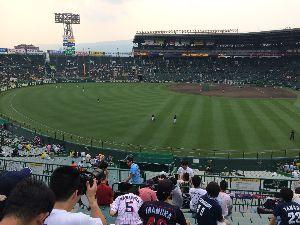 甲子園レフトビジター応援席で、ドラの勝利を叫ぶ\(^o^)/ にやは > > もはや、まぐれではない^^ >  > いや、まぐれ