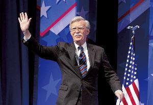 ニュース textream 「銃を磨きながら交渉する」と云われているボルトン氏が アメリカ大統領補佐官に就任し、9日に開かれた閣
