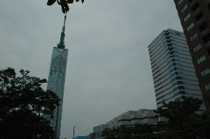 杖散歩 福岡タワー