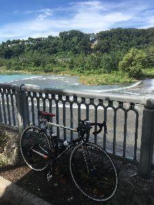 OO 自転車に乗ろう3 OO そこから八王子インターの手前で、道の駅方面に・・・  浅川に出て、八王子市役所前から陵南公園で引き返