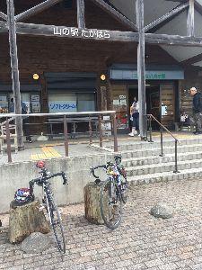 OO 自転車に乗ろう3 OO  5月5日のこどもの日、烏ヶ森公園を8時半に2人でしゅっぱこー!  昨日車で走った、廃業した長寿温泉