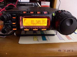 アマチュア無線 YAESU FT-857 HF/VHF/UHF コンパクトで、マルチ バンド トランシバー デスプレ