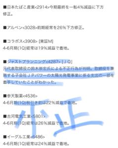 2914 - JT ダメだな🙈💦  下方か🙈💕空売り
