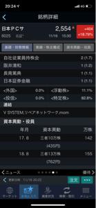 6025 - 日本PCサービス(株) 浮動株って11パーセントではないでしょうか?