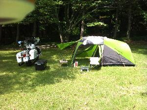 九州佐賀発バイカーキャンプ 一人キャンプの思いで。いい天気だったなぁ~・・・・