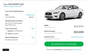 7201 - 日産自動車(株) G50(スカイライン)の値引きは6300ドル、 約70万円引き  日本では知らん