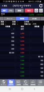 7677 - (株)ヤシマキザイ SBIで-1576円に???