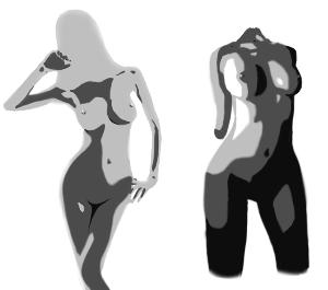 ウメの株2 昨日から、グラビア画像を加工して、 どうしたらより魅力的に見えるかということを研究している。