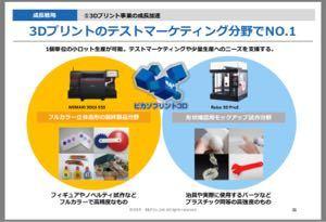 7804 - (株)ビーアンドピー 幸いJMCの3Dプリンターとは畑が違うようだ あちらさんは専門分野に特化しとる こちらはあれこれやっ