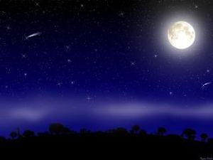 +++++ 夜空を想う +++++ 今日も一日楽しかったね。  今度は新月の晩に、また電話しよう。  今夜もゆっくり、おやすみ。i