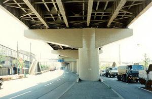 4611 - 大日本塗料(株) 大日本塗料★コンクリート構造物の保護工「レジガードシステム」  高速道路橋脚に採用されています。