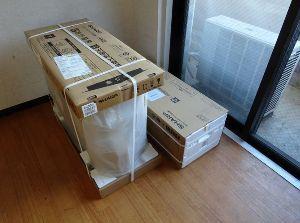 素人オヤジのトレード修行 201号室用のヤフーショッピングで買ったエアコン到着 壁紙を張り替えてから設置(^^)