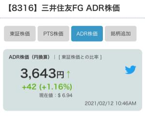 8316 - (株)三井住友フィナンシャルグループ ADRは今のところ3643 カップウィズハンドル成功だし。150円くらい上がるんではと思ってるけどど