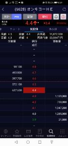 6628 - オンキヨーホームエンターテイメント(株) PTSの出来高凄い。 4.4円で買って東証で5円で売るんですかね?