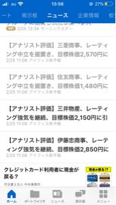 2768 - 双日(株) レーティング