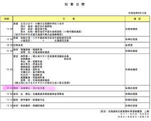 3370 - (株)フジタコーポレーション 昨日の鈴木知事のスケジュール✨  若干キレ気味の記者会見での返答の後......  むむっ??笑