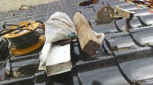 ∞少年少女∞ ∞屋根の修理∞  こないだ、家の物置に入れていた資源物を ステーションに持っ
