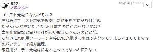 7261 - マツダ(株) 太坂ゴタク  謝罪はまだか!  >家庭用ソーラー発電は蓄電とセットでないと使えない  もちろん蓄電は