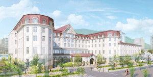 1802 - (株)大林組 宝塚ホテル2020年春の開業めざす!  設計監理は日建設計、施工は大林組が担当。 事業主の阪急電鉄、