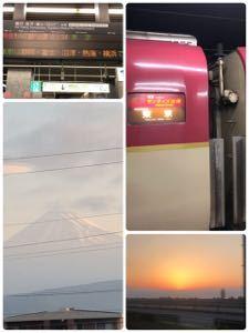 立ちスレ「立ち話のスレッド(^_^)」 気分転換にサンライズ出雲で沼津の夜明け見て、フジヤマも拝んだよ (^^) 朝7時頃に東京に着くからホ