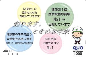 1768 - (株)ソネック 【 株主優待 到着 】 (100株) 1,000円クオカード ※図柄が変わりました -。