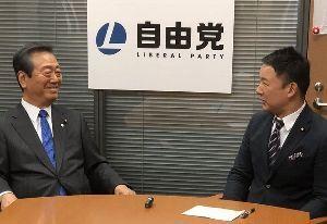 【自由党】 川島智太郎(自由党事務総長、元衆議院議員)twより 2018年3月24日  お!  代表同士 対談し