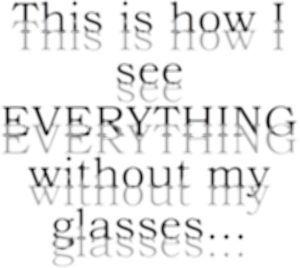 呆けとんのかな? 物が二重に見える、、、I see every thing double.