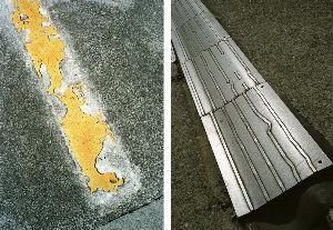 路上観察学 鉄板とコンクリートとアスファルトと、都会では至る所にある人工物。 そこに、なんか表情みたいなもの、と