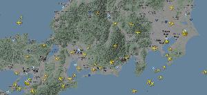 8411 - (株)みずほフィナンシャルグループ 東京、名古屋、大阪、、、空がスカスカ!! 航空会社も、どうしようもない!! flightradar2