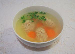 変かもしれないけど美味しい料理  [ パリジャン風鶏つくねスープ ]  NHKの『パリの小さなキッチン』でやっていました。作る前にレ