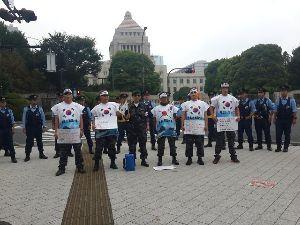 福島原発からの避難理由は無い!! 特殊任務有功者会、         日本の真中で糾弾大会            国会・外務省・皇宮な
