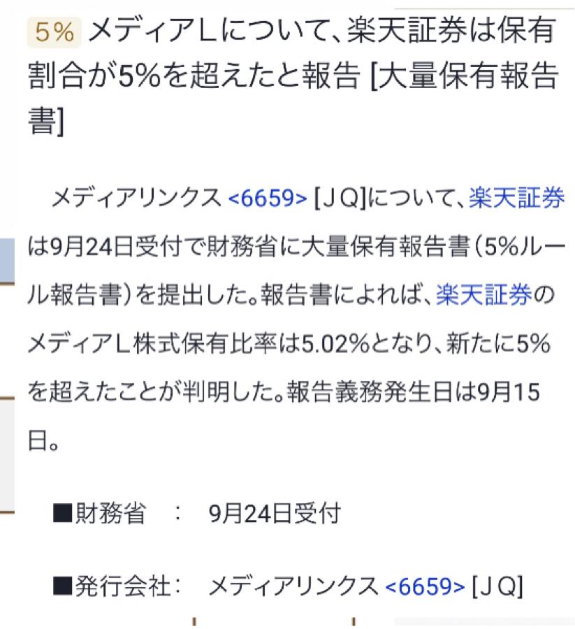 6659 - (株)メディアリンクス ん?(^_^)