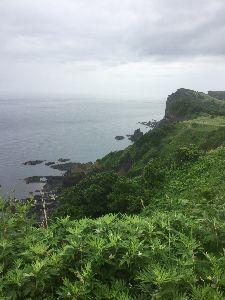 耶馬渓MC倶楽部(やばけいMCくらぶ) 平成最後の北海道ツーリングレポート、岬その1 積丹岬、積丹ブルーと言われる海の色も晴れていないと冴え