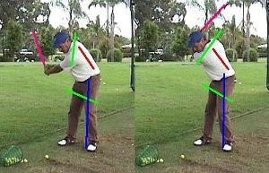 100切りゴルフサロン 肩は縦回転(その8)  写真を参考にして下さい。