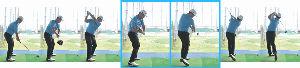100切りゴルフサロン 肩は縦回転(その9)  写真を参考にして下さい。
