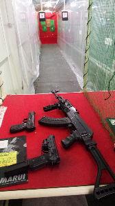 APS競技(エアーガン) 久しぶりに AK74とファイブセブン(CO2ガス)を撃ってみました ファイブセブンの反動は病み付きに