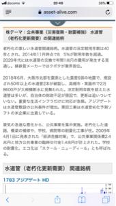 1783 - (株)アジアゲートホールディングス 明日来るよ!!