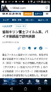 4901 - 富士フイルムホールディングス(株) これも凄い、素晴らしい! 次々と NEVER  STOP !