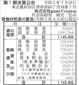 3903 - (株)gumi すこしだけ・・