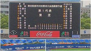 社会人野球東海地区あれこれ 昨日 西関東予選を観に、横浜スタジアムへ行ったが、入場料は一般 1,000円でJABA会員 500円