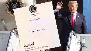 1357 - (NEXT FUNDS) 日経ダブルインバース上場投信 トランプ大統領が1月20日にバイ菌に送った手紙。