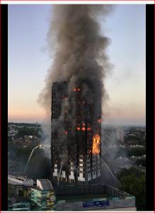 ぼやき日記・・・・ときどき なんてこった イギリスのタワーマンション火災  日本では外壁が多層階に渡って燃え上がることはあり得な