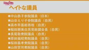韓国と国交断絶せよ! あれ?  この一覧表に「安倍晋三氏の名前、無くね?」って感じ。じゃあ「安倍晋三氏はセーフ!」だね(笑