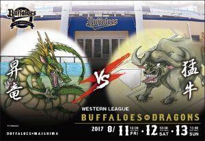 2017年8月10日(木) オリックス vs 西武 17回戦 バファローズファンさん、明日からよろしくお願いします!!