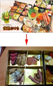 3782 - (株)ディー・ディー・エス 数年前、おせち料理でニュースになったトラブルがあった😑  写真は立派なおせち料理だけど、届いたおせち